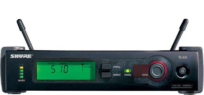 Bộ thu và phát kèm micro cài đầu Shure SLX14A/SM31FH