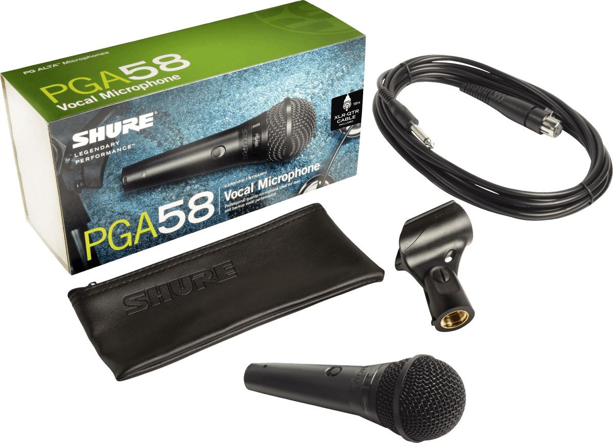 Micro có dây shure cầm tay PGA58-QTR