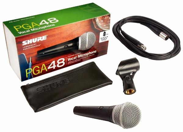 Micro có dây shure PGA48-QTR-B