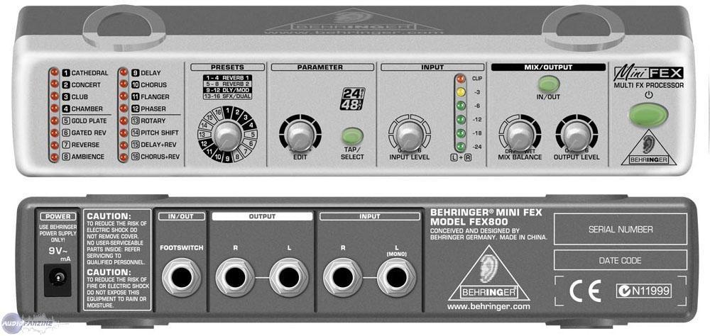Bộ xử lý tín hiệu Behringer MINIFEX FEX800